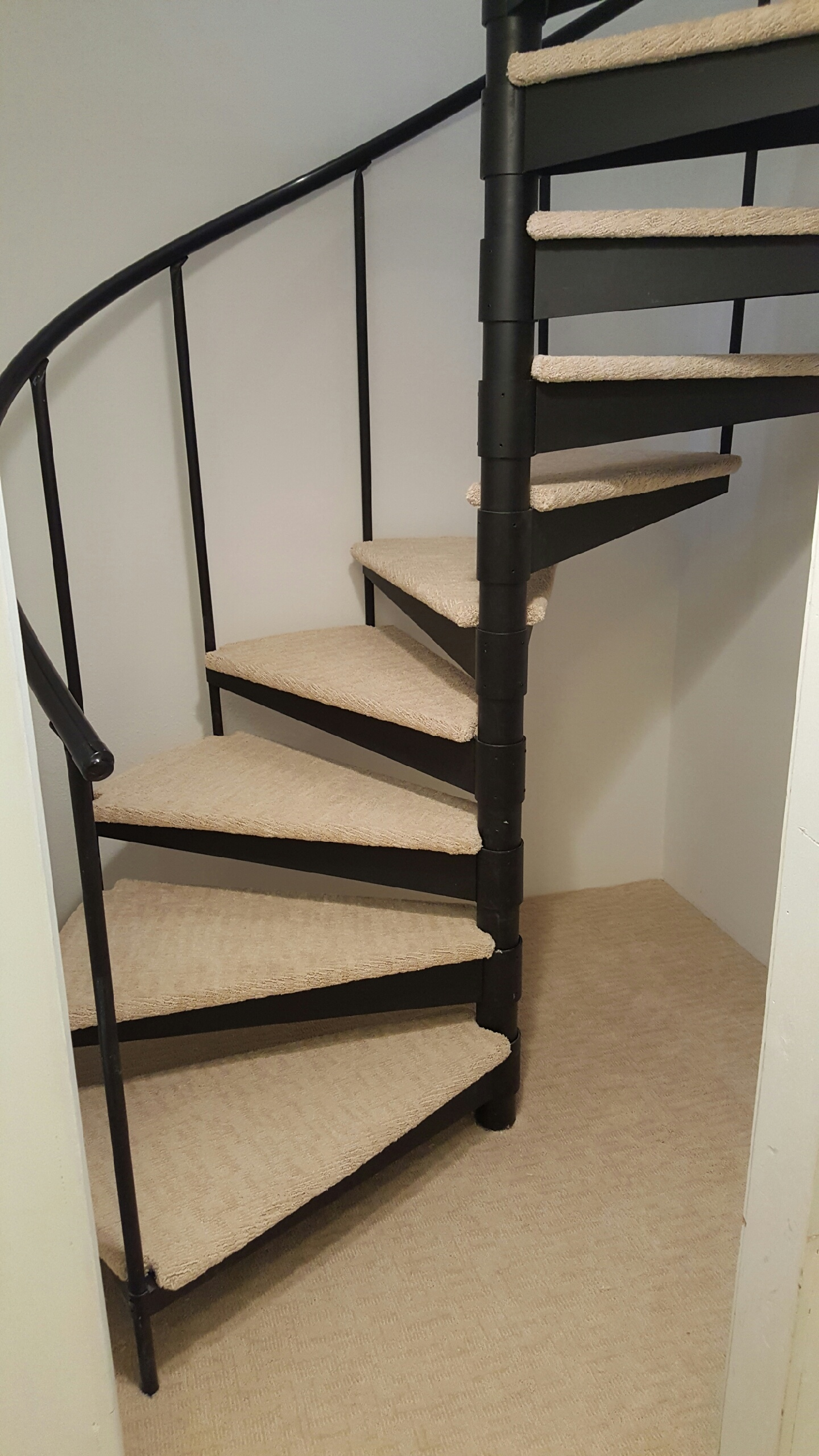Spiral Carpeted Staircase